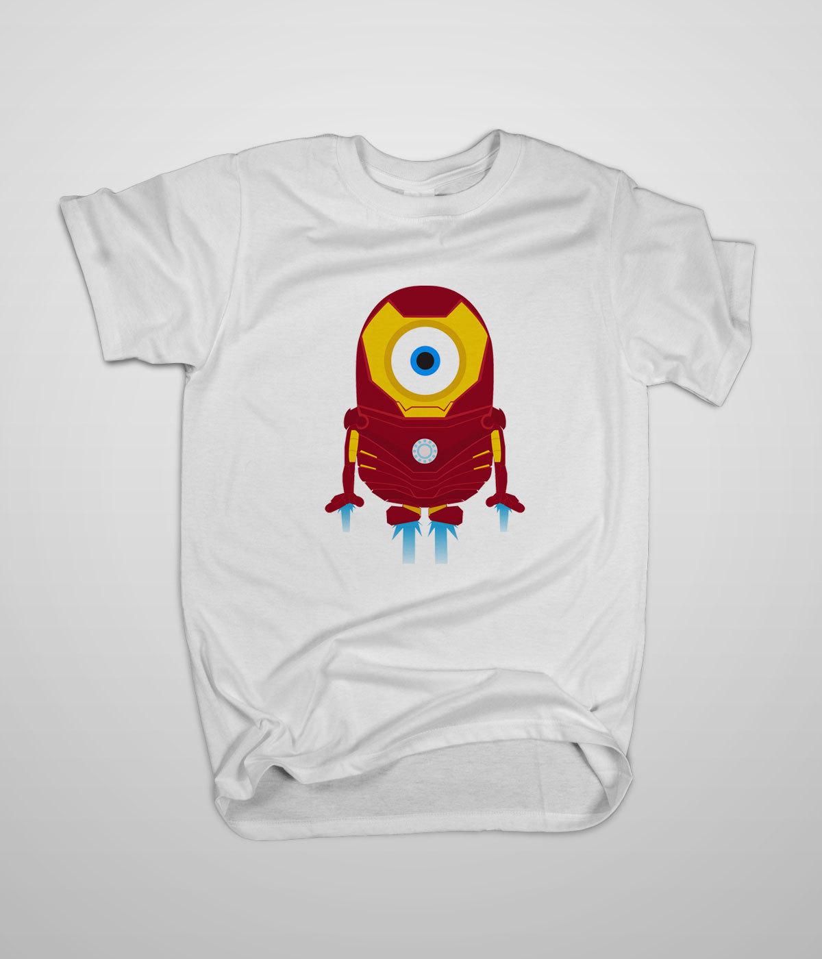 Despicable me minion iron man avenger t shirt s 3xl high for High quality custom shirts