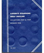 "1937-1947  LIBERTY STANDING HALF DOLLAR ""Whitman""  COIN TRIFOLD Album No... - $2.95"