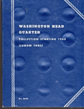 Washington Head Quarters Collection Starting 1960 Book 3 -Whitman Book n... - $4.50
