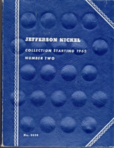 Jefferson Nickel Collection Book Starting 1962 Number Two  - $4.50