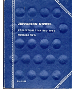 Jefferson Nickel Collection Book Starting 1962 Number Two  - $2.95