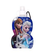 Disney Frozen Elsa Anna Olaf Collapsible Water Bottle With Keyring Clip ... - $5.93