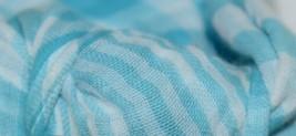 Lulijo baby original reversible muslin swaddle LJ055 blue white image 2