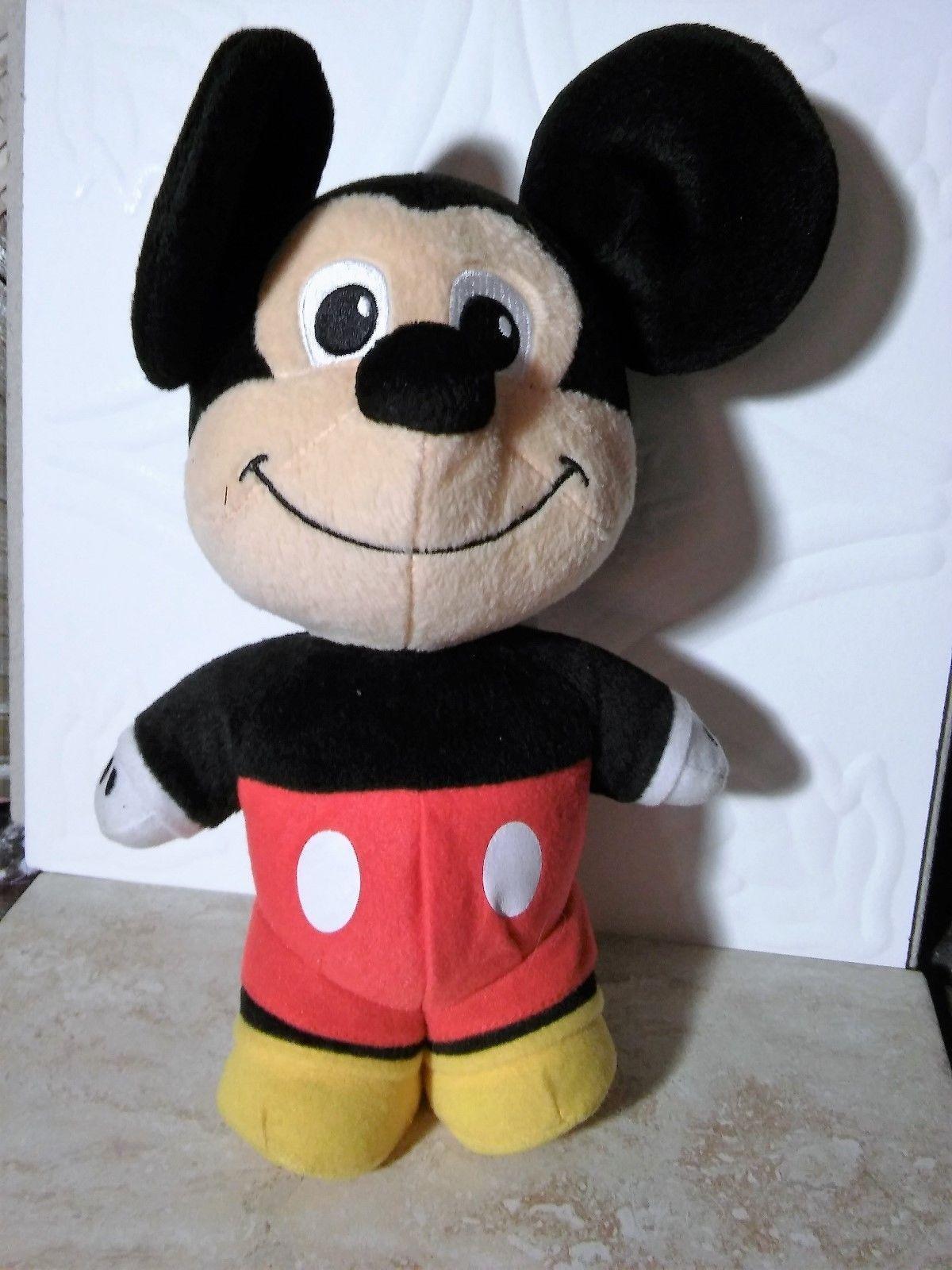 "Fisher Price Disney 11"" TALKING Mickey Mouse 2009 Mattel Stuffed Plush Doll Toy"