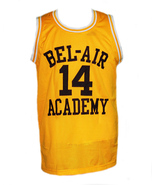 Will Smith #14 The Fresh Prince Of Bel-Air Basketball Jersey Yellow - Any Size - $29.99