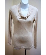 Banana Republic XS Top Heather Beige Cowl Neck Fitted Modal Shirt Long S... - $19.57
