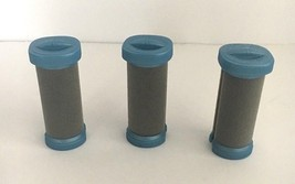 (3) Medium Replacement Curlers/Flocked Hot Rollers for Conair Ion Shine ... - $7.70