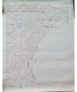 "Vintage USGS Topographic Map Grayson TN NC VA, Edition of 1938, 22"" x 27"" - $23.65"