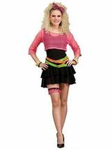 Women's 80's Groupie Costume, Pink/Black, One Size - $24.26