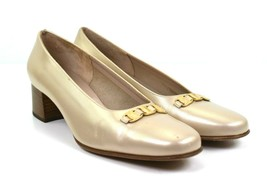 Salvatore Ferragamo Boutique Italy Pearl Leather Loafer Shoes Sz 8 B - $76.42