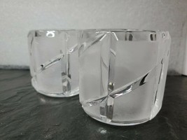 Crystal Clear And Frosted Toothpick Votive Candle Holder Set - $13.15