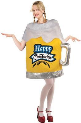 Beer Mug Womens Costume Happy Octoberfest Tunic Adult Alcohol SZ 6-14 FM65774
