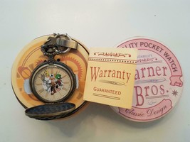 Extremely Rare! Looney Tunes Taz Marvin The Martian Daffy Duck Bronze Watch - $247.50