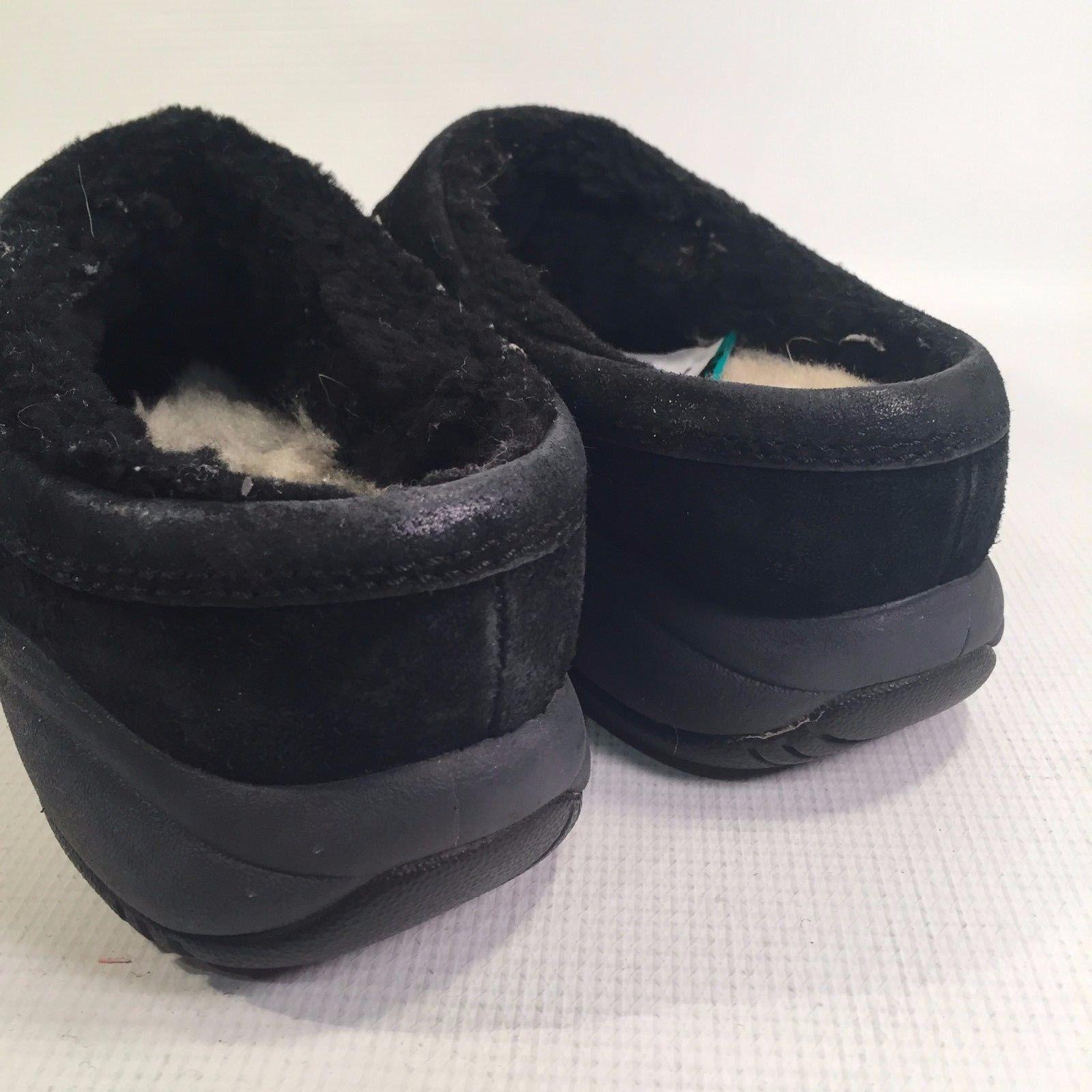 Women's MERRELL Black Suede Mules Fleece Insole 8 - 8 1/2 M