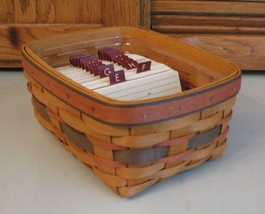 Longaberger Card File Basket Protector Address Cards 1996 Fathers Day A... - $38.60