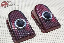 49 50 Chevy Passenger Car Rear Blue Dot Tail Light Lamp Lens Lenses Set ... - $25.34