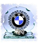 BMW LOGO Design Cut Glass Round Plaque Frame  #1 - $32.07