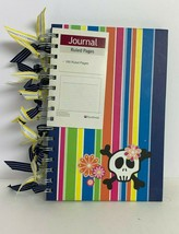Plan Ahead Multi-Color Floral/Skull Designed Journal 160 Ruled Pages - $9.90