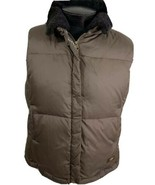 Ugg Jacket Australia Down Puffer Vest Sherpa Collar Coat Brown Women's X... - $59.99