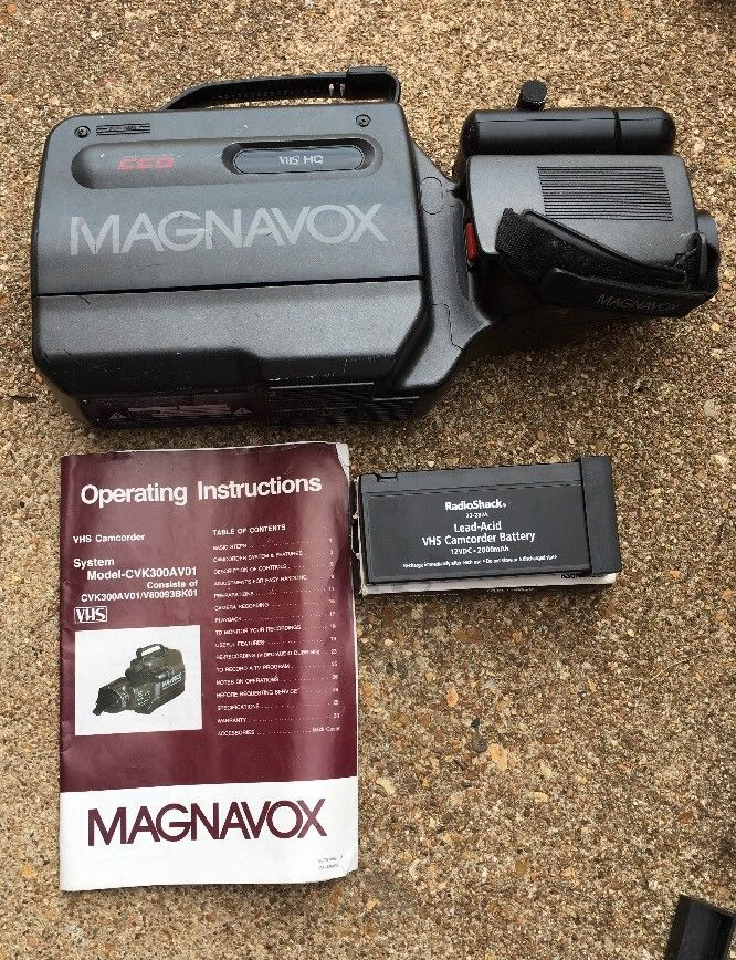 Vintage Magnavox Vhs Movie Maker Camcorder and 50 similar items