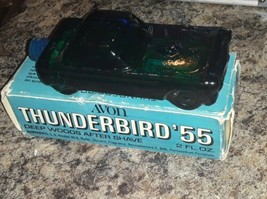 Vintage Avon Thunderbird 55 Deep Woods After Shave Car Decanter Full Bottle - $17.82