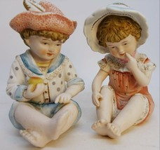 Vintage Bisque Children Piano Baby Figurines Andrea by Sadek Pottery Min... - £6.62 GBP