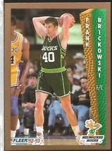 1992-93 FLEER NBA-#124-Frank Bricowski-Bucks-Forward - $3.94