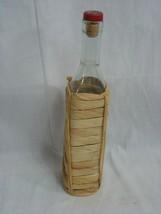 Vintage Garnier Decanter Bottle Liqueur France Empty Wicker Cover - $13.98