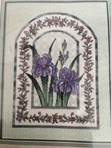 Iris Mosaic Elsa Williams Cross Stitch Kit Heritage Collection New Sealed - $38.70
