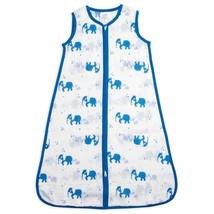 Baby Sleeping Bag Aden & Anais blue Elephant Muslin Sleep Sack Large 12-... - $34.19