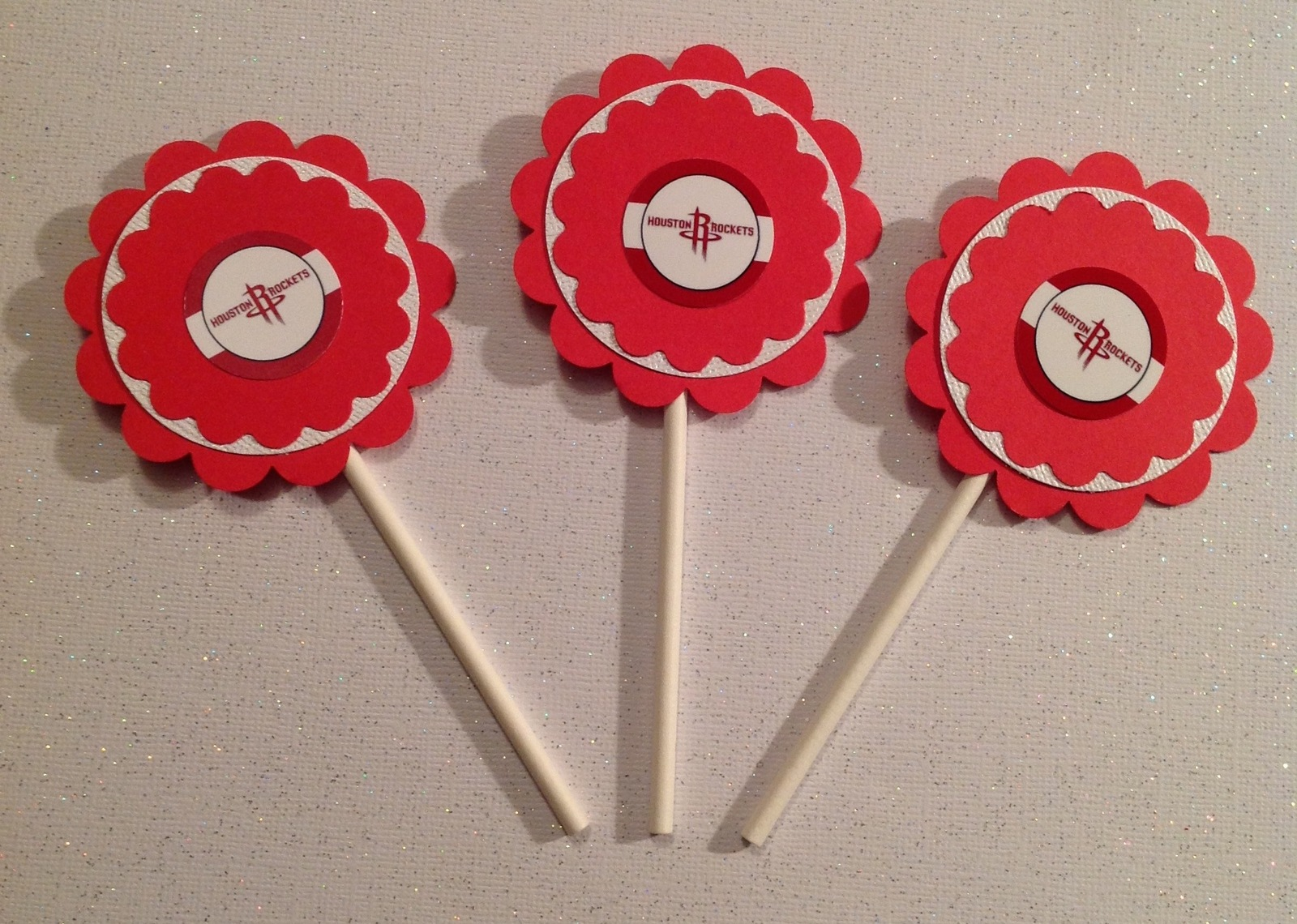 Nba Houston Rockets Cupcake Toppers Birthday And 27 Similar Items