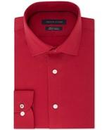 Tommy Hilfiger Fireglow Red Slim-Fit Th Flex Stretch Non-Iron Dress Shirt - $21.95