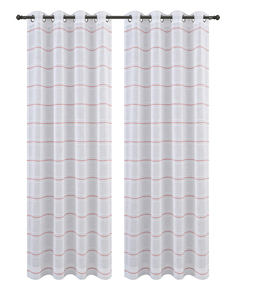 Urbanest Chamon Set of 2 Sheer Curtain Drapery Panels with Grommets image 6