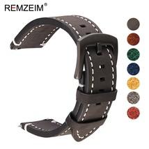 REMZEIM Watch Accessories Watch Strap 18mm 20mm 22mm 24mm Vintage Cow Le... - $33.09