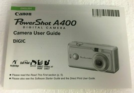 Canon Powershot A400 Digital Camera User Guide Instruction Manual - $6.23