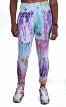 Civil Clothing Loud Bocca Alieni Multicolore Bianco Leggings Sexy Stretch Pants