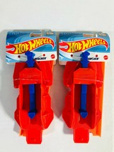 Hot Wheels Car Track Launcher Lot of 2 Red Mattel Hot Wheels Tracks New - $9.87