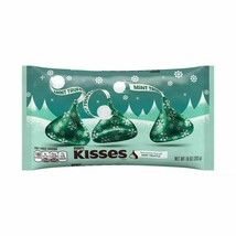 Seasonal Limited Ed Dark Chocolate Mint Truffle Hershey's Kisses 10 Oz. Bag New