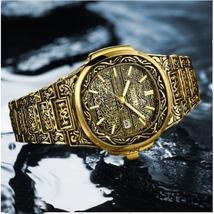 Vintage Engraved watch strap Men's Watch Quartz Casual Waterproof Watches - $44.99