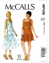 McCALLS PATTERN 438 MISSES' TOP & SKIRTS SIZE A... - $4.00