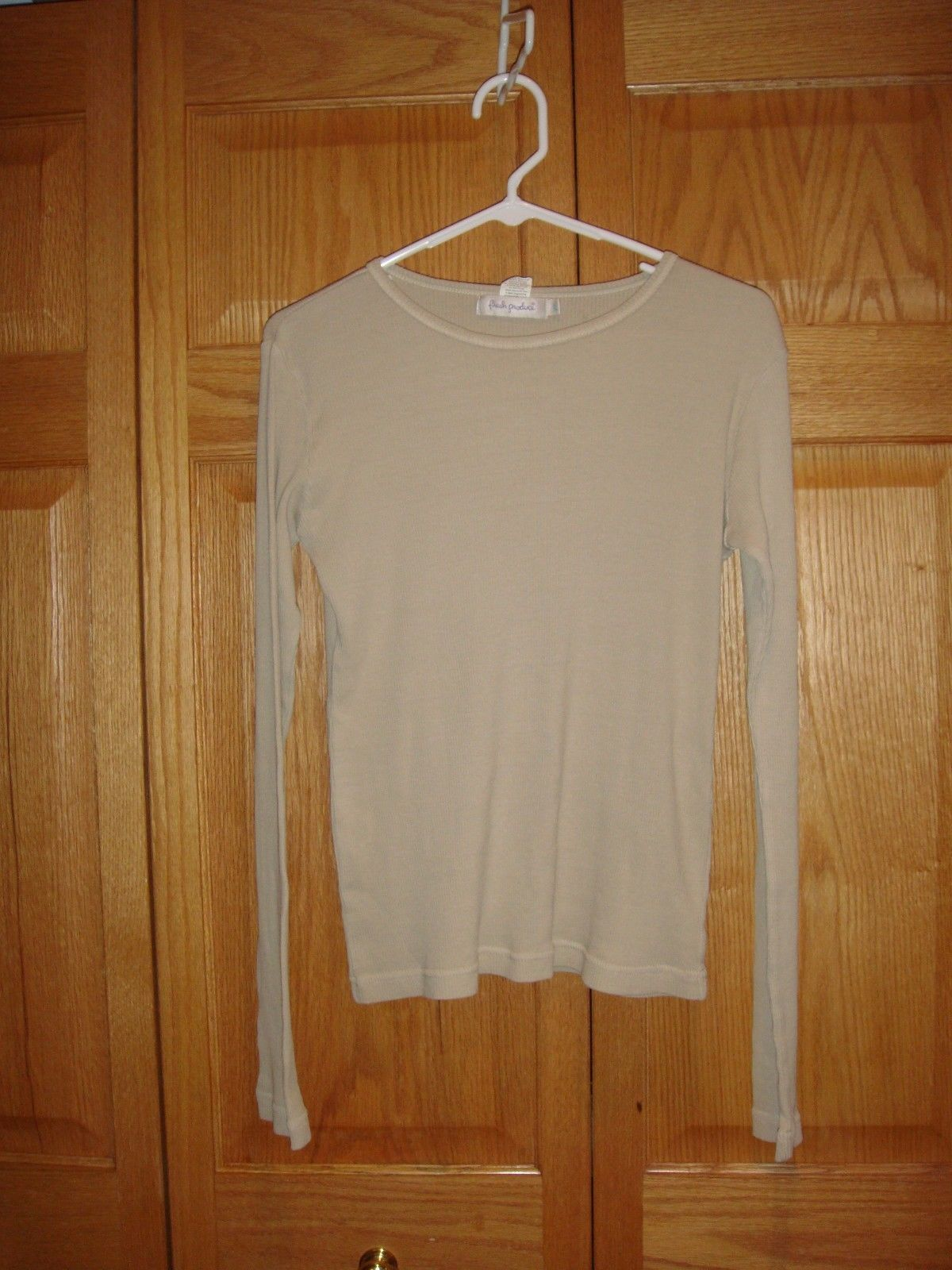 Fresh Produce Top L Sand Dollar Wide Rib Long Sleeve Top