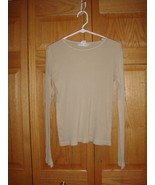 Fresh Produce Top L Sand Dollar Wide Rib Long Sleeve Top - $17.39