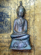 SO RARE! HOLY PHRA CHAI NGANG KHMER 600 YEARS TOP BUDDHA AMULETS LAST ON... - $49.99
