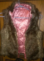 GAP Vest - Real Fur, Reversible  - $50.00