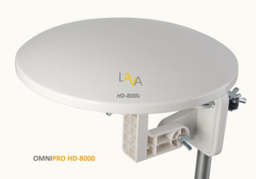 LAVA HD-8000 360 DEGREE HDTV DIGITAL AMPLIFIED INDOOR//OUTDOOR TV ANTENNA