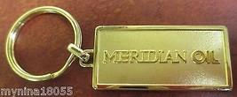Meridian Oil Advertising Goldtone Keychain Keyring - $18.50