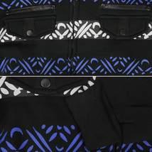 EKZ Men's Graphic Geo Tribal Fleece Lined Zip Up Sherpa Hoodie Jacket image 3