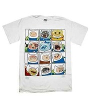 Authentic Cartoon Network Adventure Time Faces Of Finn Jake & Finn T Shi... - $17.75