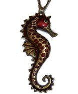 Large Seahorse Necklace. Nautical Necklace. Summer Beach Jewelry. - $10.00