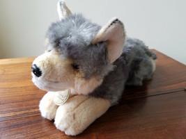 "Miyoni by Aurora Plush Stuffed Animal Grey Beige 14"" Wolf - $9.85"